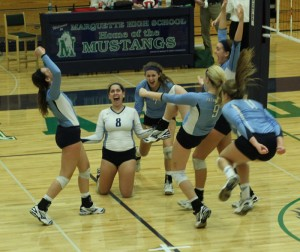 Girls' volleyball places second in districts