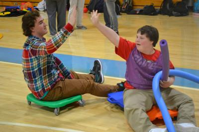 Senior Matt Columbo volunteers through Physical Education mentoring