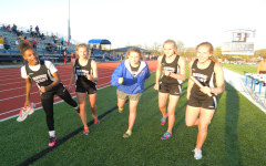 Varsity girls track relay team shattering records