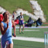 """Freshman Nehemiah Colyer sprints at a boys track on the track. Colyer ran the 4x4 and the 300 meter hurdles this season. """"I would say my biggest accomplishments are actually being able to run on varsity since not many freshman are actually able to do that. It feels pretty cool and kids stop me in the hallway and ask me about it but I try not to make a big deal about it and stay humble,"""" Colyer said. """"I ran track because I want to stay in shape and to get faster for football."""""""
