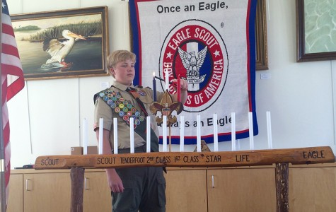 Christopher Narishkin earns his Eagle Scout rank