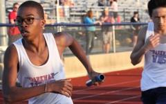 Freshman Chris Bass races to victory
