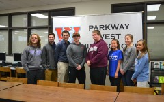Eight seniors sign to play college athletics