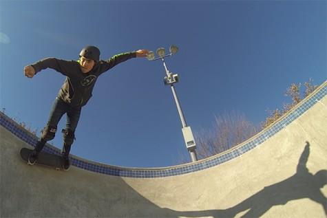 Flip kicking on a homegrown board