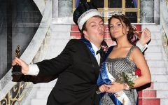 The King and Queen, seniors Mariel McMindes and Tristan Johnson, talk being crowned at prom