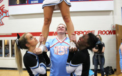 Freshman Daniel Hasler joins cheerleading