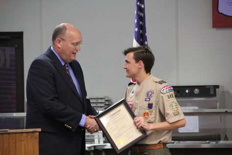 Students work to earn highest rank in Boy Scouts of America