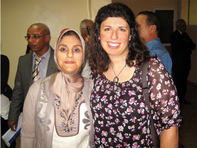 Amy+Cohen+with+her+partner+teacher+Saida+Adnane