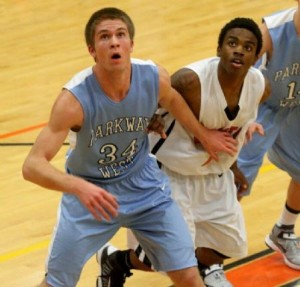 Parkway West varsity boys basketball win over Marquette