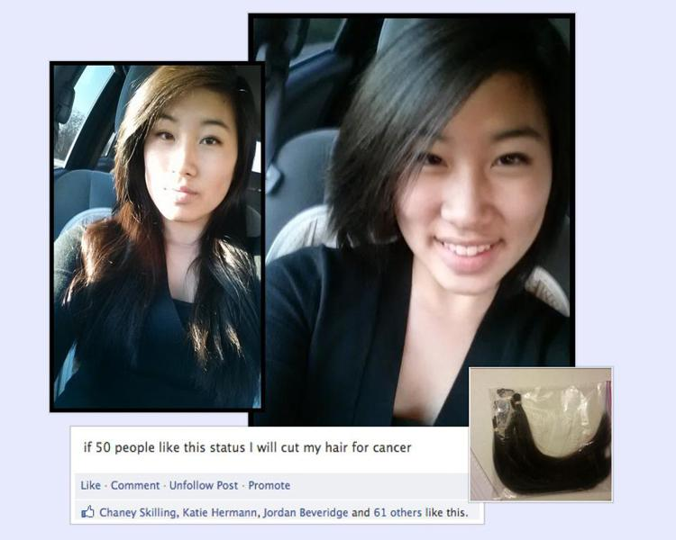 On+Jan.+6%2C+sophomore+Sarah+Shin+donated+eight+inches+of+her+hair+to+Pantene%27s+Beautiful+Lengths.+She+decided+to+do+so+when+she+recieved+50+likes+on+her+facebook+status.+%22I+felt+kinda+freaked+out+since+most+of+my+hair+was+gone%2C+but+excited+to+help+someone+out+who+needed+my+hair+more+than+I+liked+it%2C%22+Shin+said.