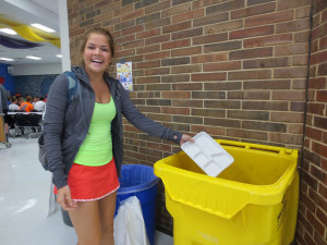Bins to better our environment: Students begin composting