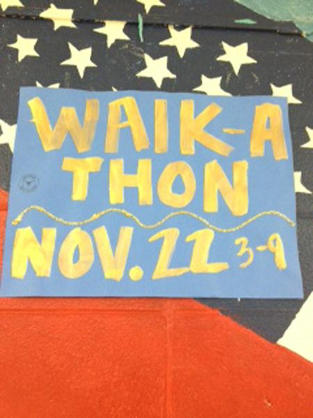 The Walk-a-Thon will be on Nov. 22 from 3-9p.m. in the stadium.