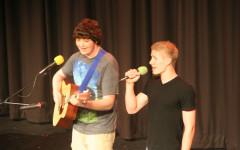 Junior Adam Dyer and Senior Jamie Barrett perform their duet for singer's choice.