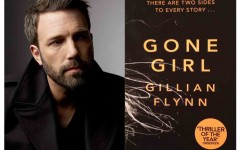 Ben Affleck on the left, who played main character Nick Dunne in the film Gone Girl; on the right is the book, Gone Girl, written by Gillian Flynn.