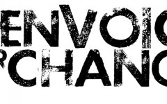 Two juniors work with Teen Voice for Change