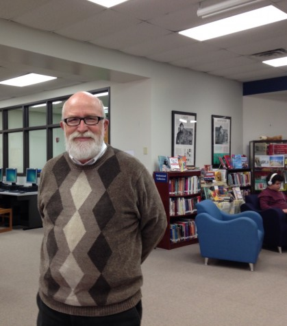 Lou Jobst, MOSAICS academy specialist, enjoys the library atmosphere.