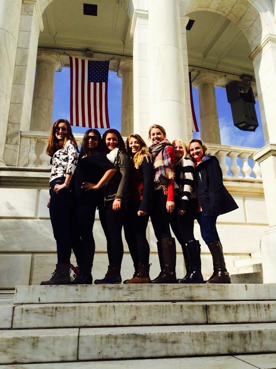 After watching the Changing of the Guard,the publications staff, sophomore Ritoma Ganguly, juniors Sarah O'Beirne, Bailey Rathert, Molly Sewester, Katie Hornsby, Megan Barton and senior Kappy Pille, stand before the Arlington Memorial Amphitheater. You need a quote about the changing of the guard.  It would give so much more meaning.