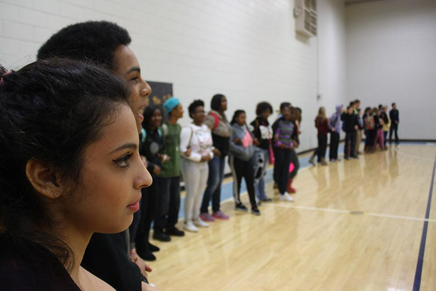 """After finding out about the walkout from a friend in her third hour class, senior LuLu Alorsan joined the other 200 students in the North Gym. """"I think it's a very serious issue,"""" Alorsan said. """"I don't like how some people don't think anything of it."""" Alorsan went because she wanted to bring it to peoples attention how important the shooting was. """"I didn't really hear what was going on,"""" Alorsan said. """"But I felt like being there and seeing all the people that came really showed that they care."""""""