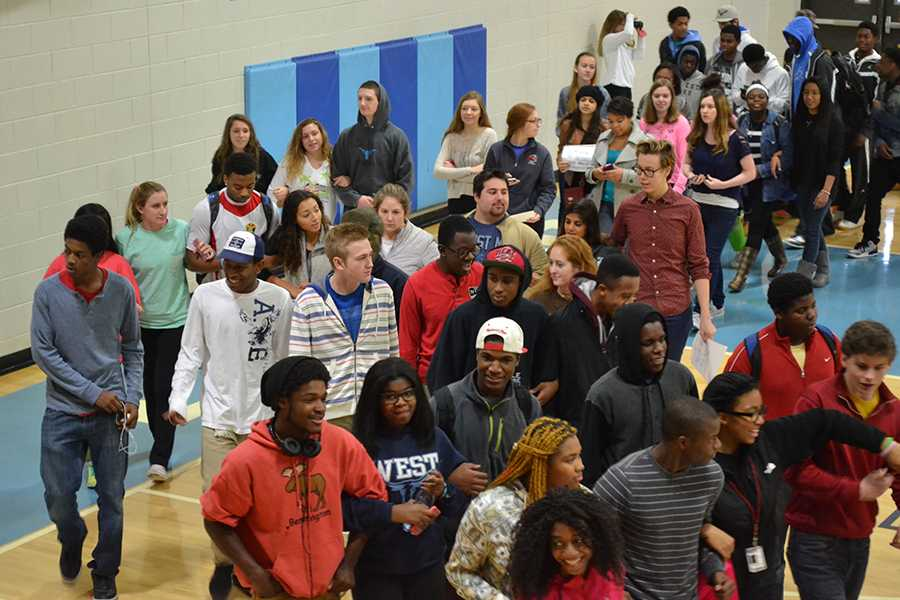 Peaceful walkout allows students to embrace equality