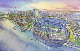 This is a sketch of the potential new riverfront stadium set for the Rams. If the plans go through, it will begin construction in 2016.