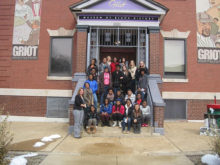 "Students involved in AASAP (African American Student Acceleration Program) participate in the field trip for Black History Month. Senior Samantha Morris invited her classmate Libby Dodge to join her to create a more diverse group attendance. ""This field trip was an incredible experience. It was something different which made it very memorable, and seeing the pictures and videos at the Griot Museum made it feel so real,"" senior Libby Dodge said."