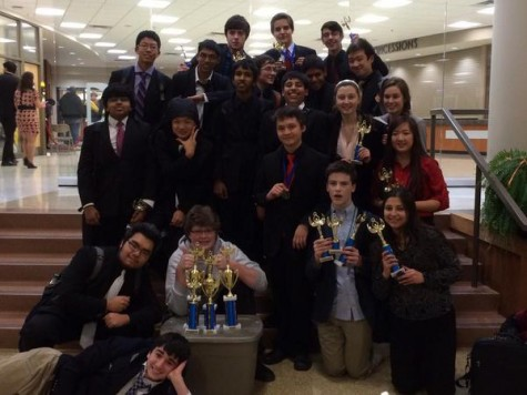 Debate team winning second place overall at the third GSL  tournament at Ritenour.
