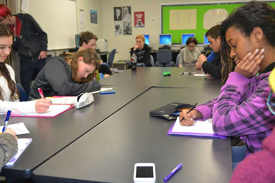 At the beginning of most meetings, students are given a prompt to write or draw about.