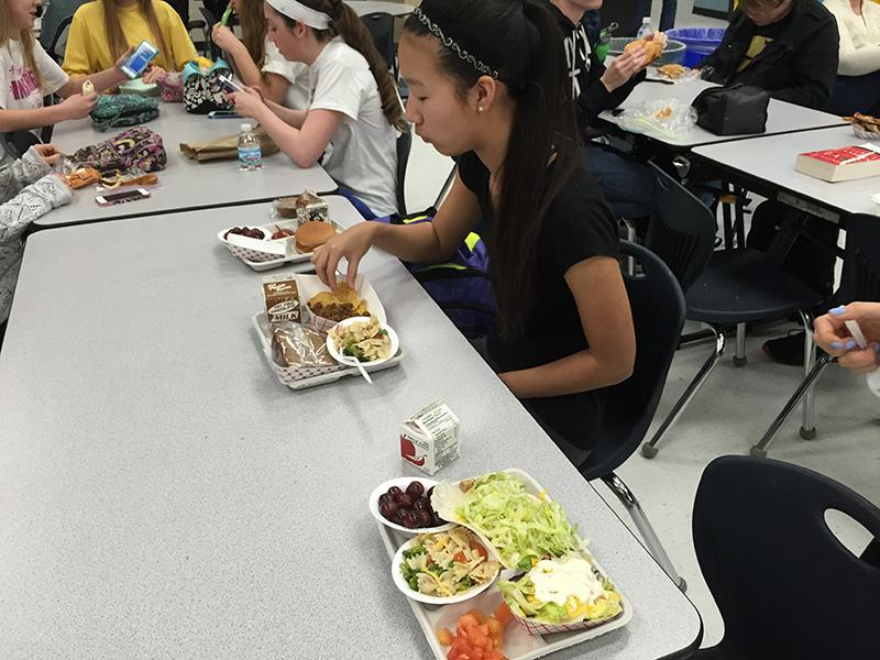 Freshman Rachel Wang buys a school lunch daily.