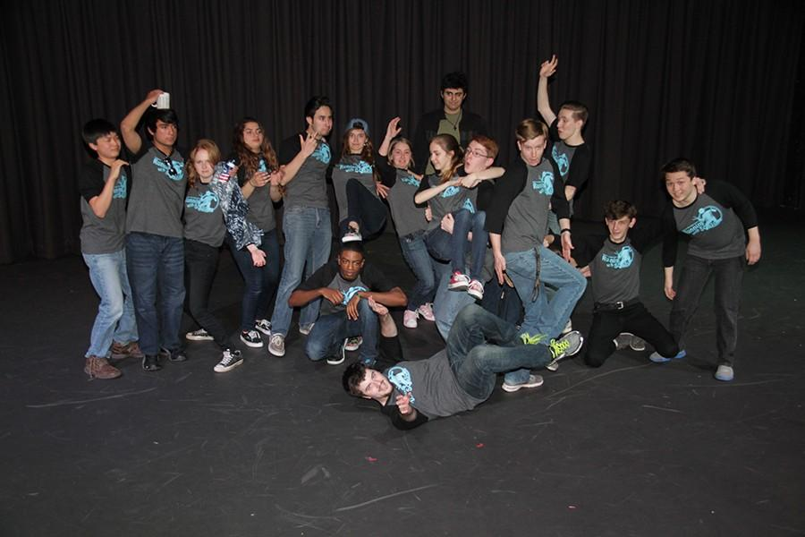 The entire team ends the show with a funny pose for the photographer. The team will have another show in May 8.