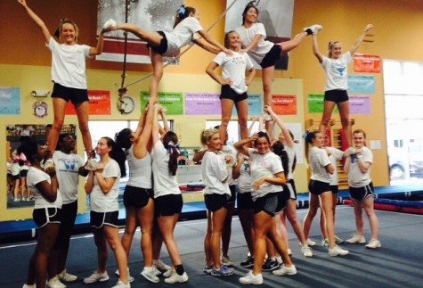 Cheerleading prepares for next year