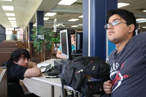 Library during seniors' last week