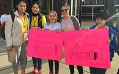 Taiwanese exchange students visit Claymont Elementary