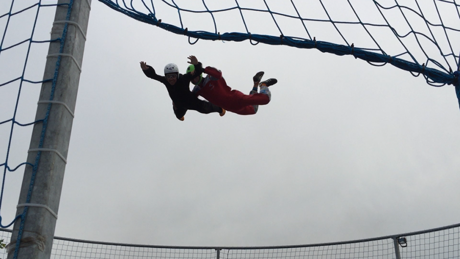 Freshman Ethan Golde went artificial skydiving in Chesterfield Valley.