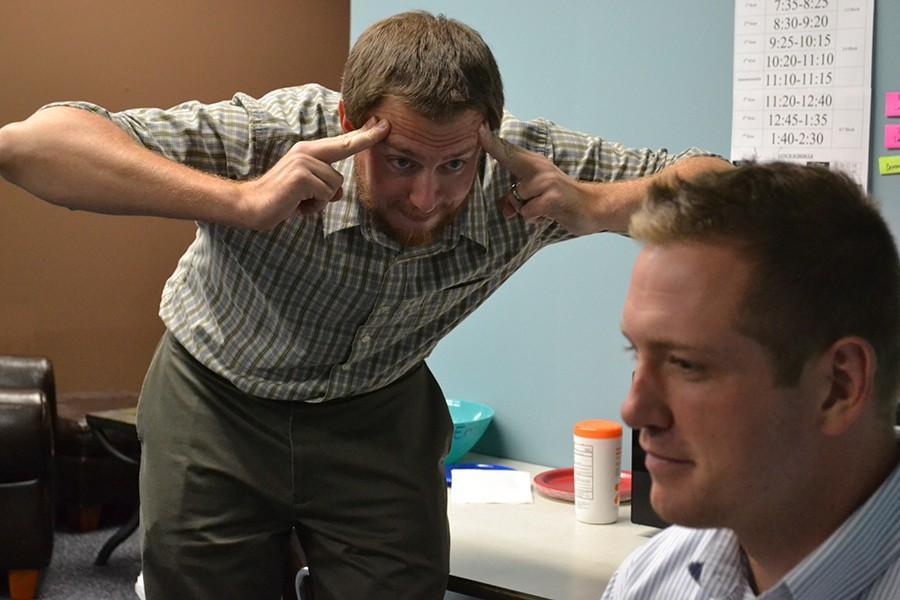 English teacher Dan Barnes reads English teacher Casey Holland's mind. Disclaimer: Barnes cannot actually read minds.