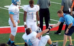 Senior lineman Kyle Freebesyser is one of five Longhorns who left Friday's game with an injury.