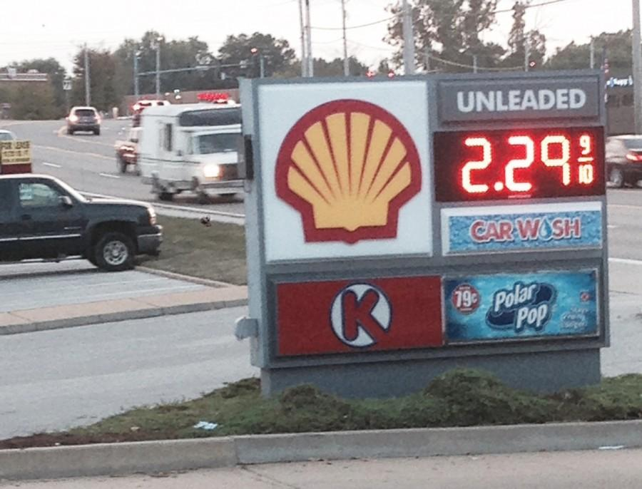 On Wednesday, Oct. 7, the gas price at Shell gas station reach $2.29.