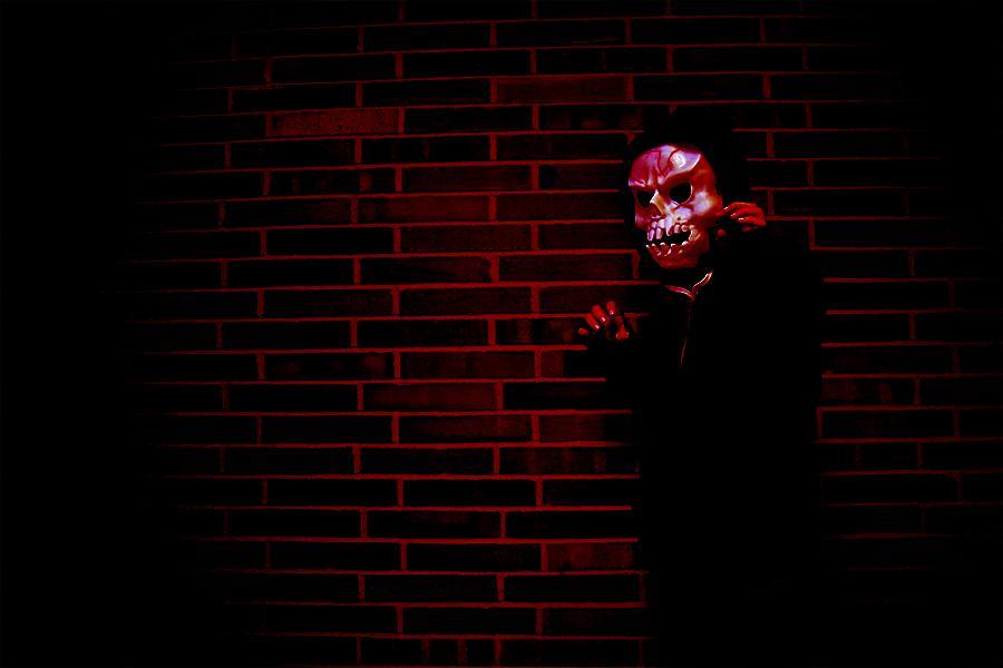 Haunted house photo illustration