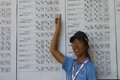 Rebecca Su places fifth at state for girls golf