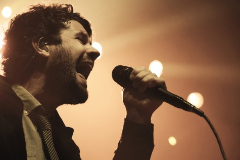 Michael Angelakos belts out his opening song