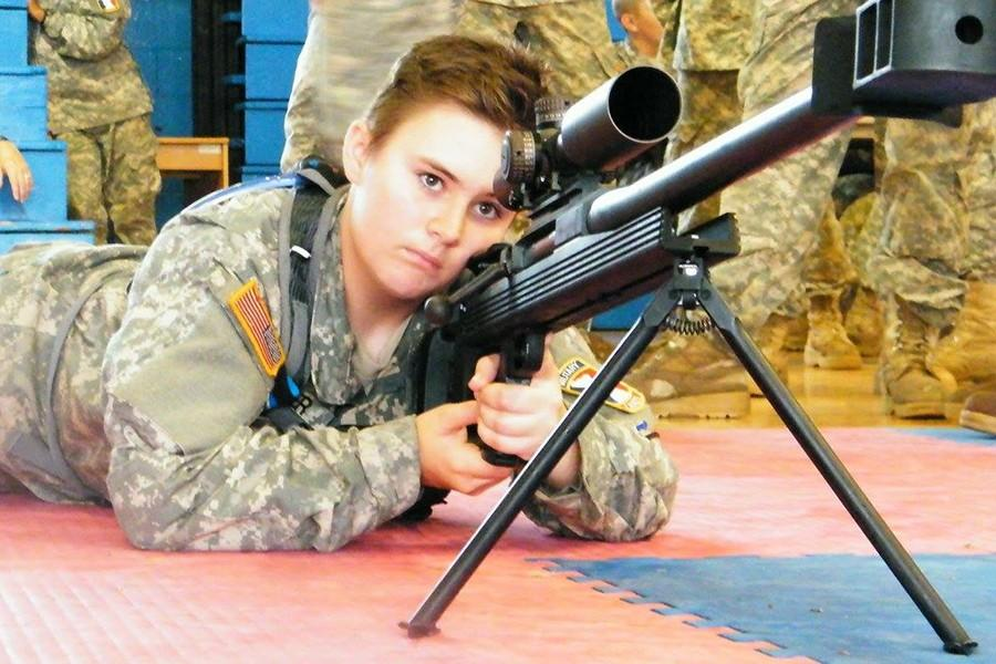 Freshman Sutton Oliver talks about her military teen auxiliary program