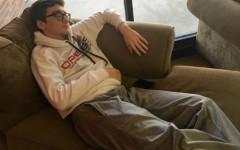 Senior Mason Gervich takes a nap during his fourth hour study hall.