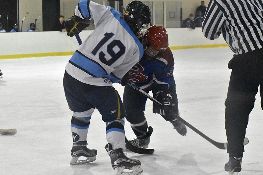 Senior forward Nick Balestra fights off a defender, at Queeny, against Parkway South in a pivotal conference match up.