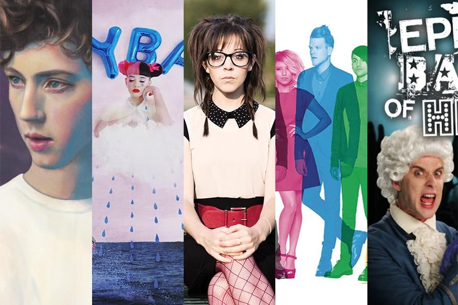 Artist's album covers from left to right; Sivan's