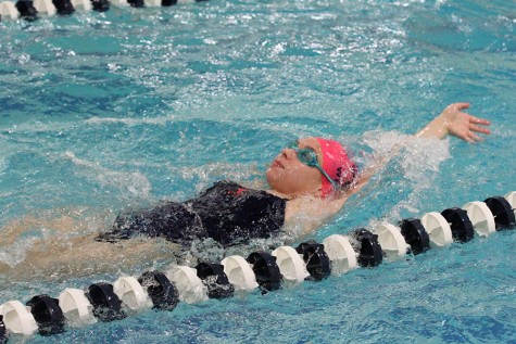 Senior Gabi Vieira swims to success