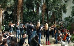 Symphonic Orchestra plays in an atrium inside of the Gaylord Opryland hotel on Friday, April 8.