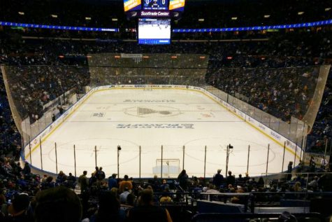 Blues fans wait for Blues playoff hockey.