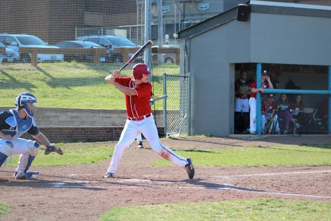 Senior third baseman Grant Brueggenjohann is among the area leaders in batting , posting a .472 average on the year.
