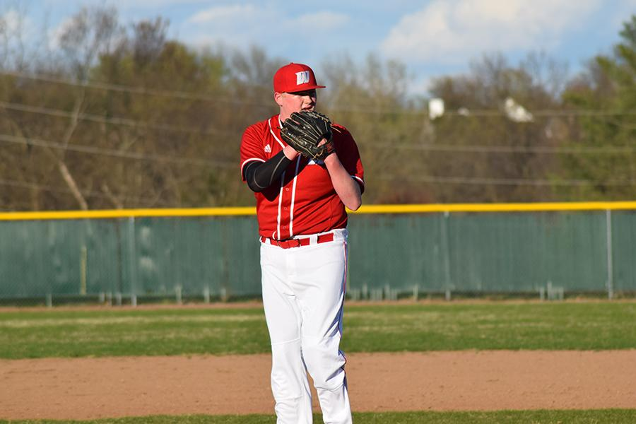 Junior right-handed pitcher Matt Perego has five wins on the season, beating teams such as Affton and Clayton.