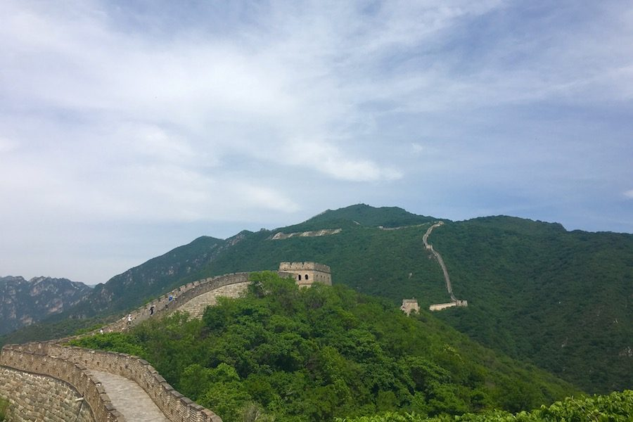 The+Shah+sisters+saw+the+Great+Wall+in+China+during+their+travels.+The+Great+Wall+is+13%2C170+miles+long.