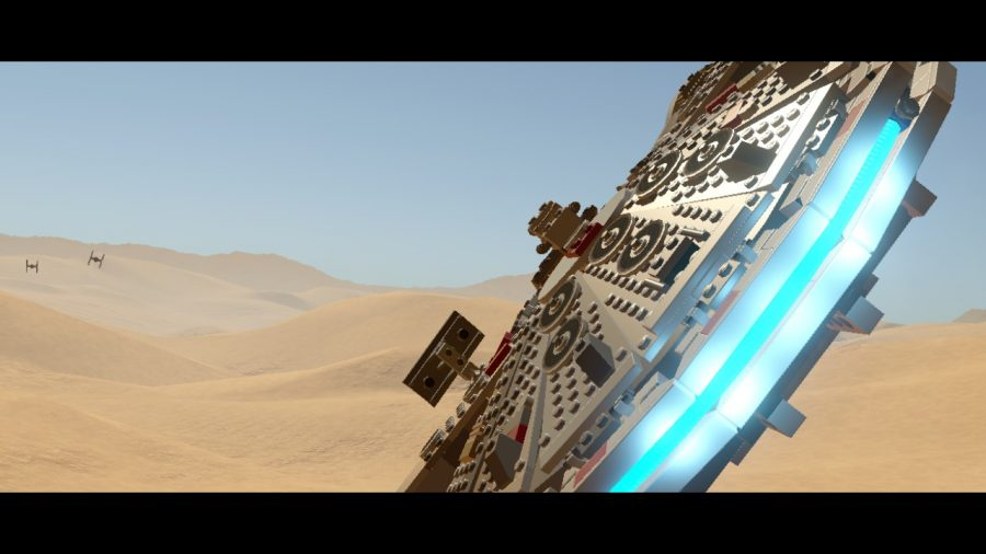 Fly+the+millennium+falcon+from+a+scene+from+the+film.